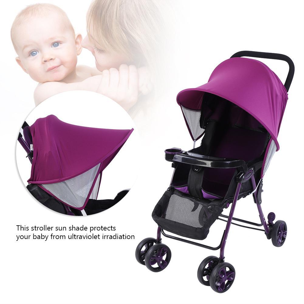 Portable Baby Child Pushchair Stroller Pram Buggy Sun Shade Cover Canopy Black