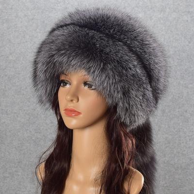Invierno mujer tapa piel Real genuino natural Fox Sombreros Sombrero ruso  niñas exterior gorros las señoras 0f47885d82b6