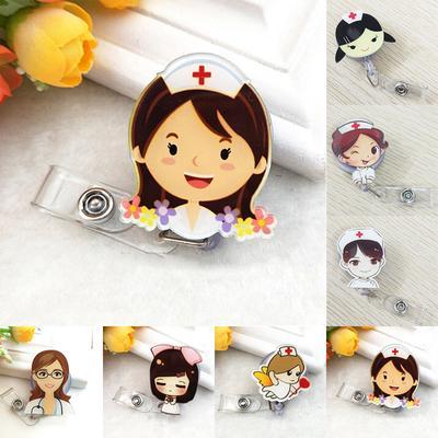 Cute Cartoon rétractable Badge CARD HOLDER Infirmière Médecin exposition Pull Kes