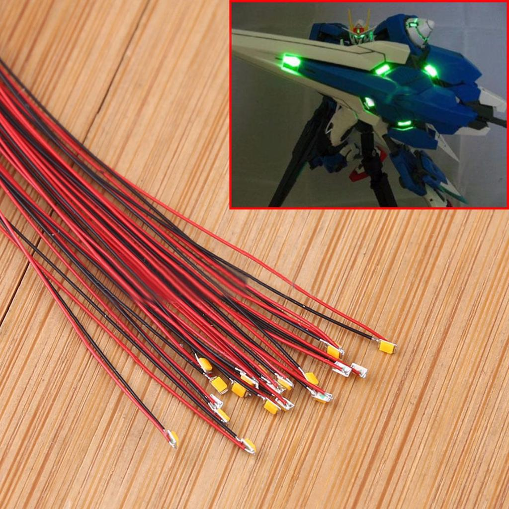 0402 10pcs Pre-soldered micro litz wired leads Blue SMD Led 0402 Tools Sets
