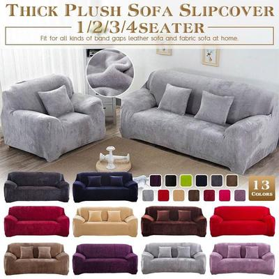 1//2//3 Seat Elastic Sofa Covers Slipcover Thicken Knitted Couch Settee Protector