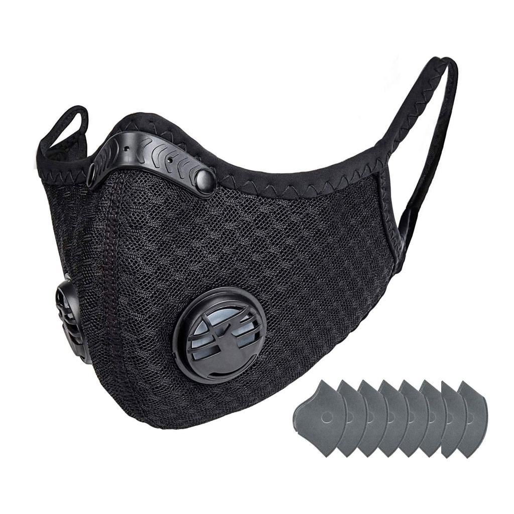 Unisex Mouth Cover 1pcs Bike Face Cover With 10pcs Filter