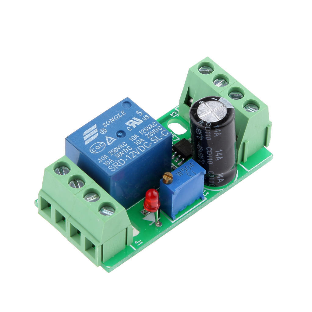 Magideal Ne555 Dc 12v Digital Delay Timer Relay Switch Module Adjustable 0 10s