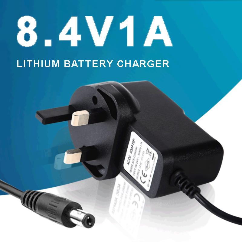 8.4V 1A Bicycle Light Charger US Plug DC5.5x2.1 Rechargeable Battery Headlight