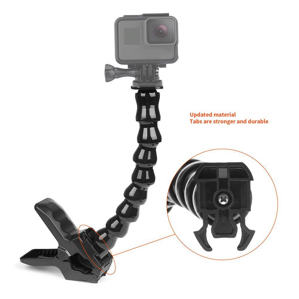 Ventosa Montaje Del Coche Soporte De Titular De Cuello Flexible para GoPro Osmo Acción Cámara