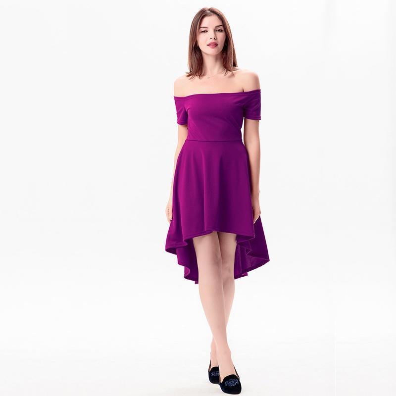Único Vestidos De Cóctel Púrpuras Bajo 100 Elaboración - Ideas para ...