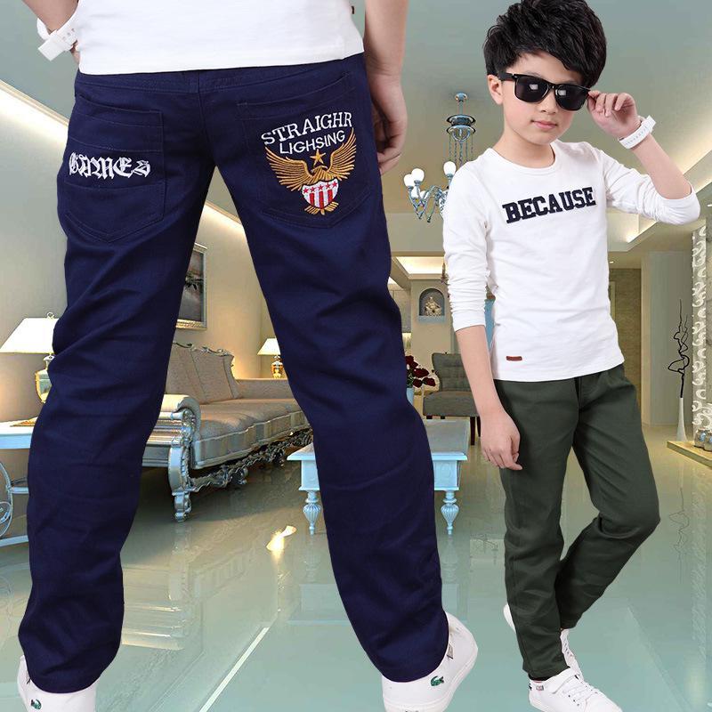 Хлопковые брюки для мальчиков