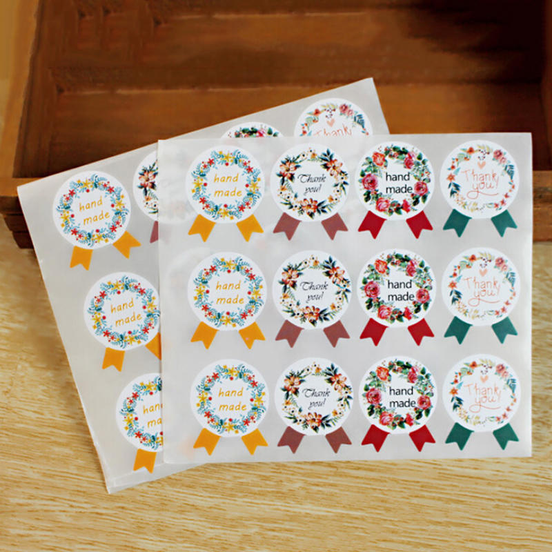 """HANDMADE STICKERS /""""Especially For You/"""" Kraft Labels Seals Craft Gifts 60 pcs"""
