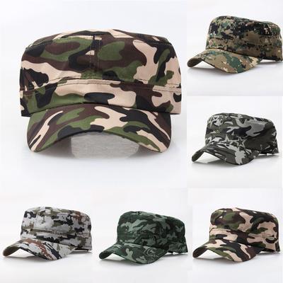 62582823f459f Camo exterior tático tampa de estilo Vintage militar cadete simples chapéu  ajustável