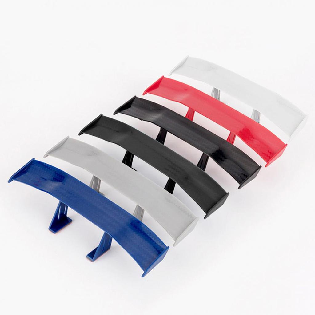 6.69 Inch Auto Car Tail Wing Mini Auto Carbon Fiber Texture Decoration Without Perforation Tail Decoration LKLK Universal Car Mini Spoiler Wing