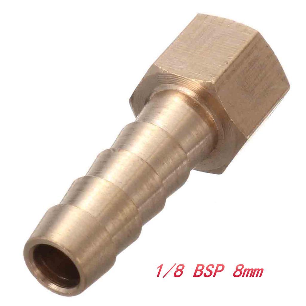 Adaptador De Cola De Manguera Latón 1//4 BSP Hembra a 8mm Tubo Para medidores de presión para mangueras