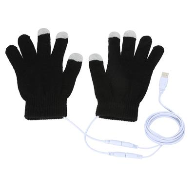 1pair 5V winter warm gloves usb powered heated pads hand warmer 8*18cm pads Wx