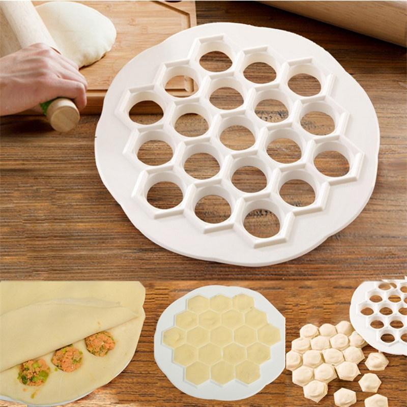 2cm 19 Holes Plastic Dumpling Mold Maker Dough Press Dumplings Maker Mold Tools 21