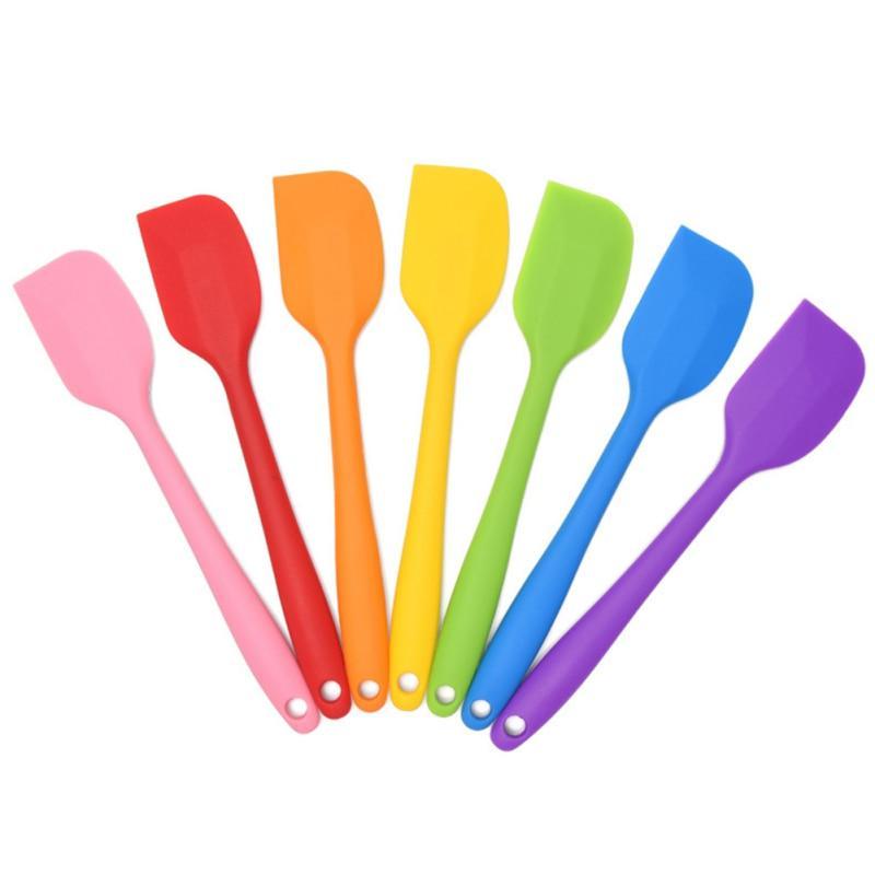 1PC Silicone Spatula Heat Resistant Non-Stick Rubber Scraper Cream Spoon
