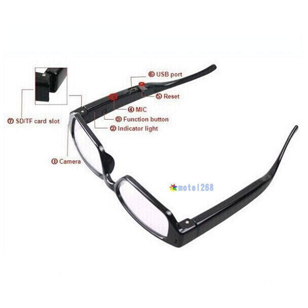 Mini HD Spy Camera Glasses 1080P 720P Hidden Eyeglass Sunglasses Cam Eyewear DVR