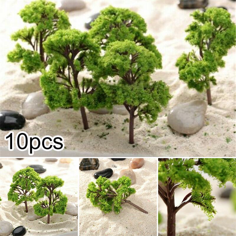Simulation Model Trees Artificial Decoration Props Garden Railway 10pcs