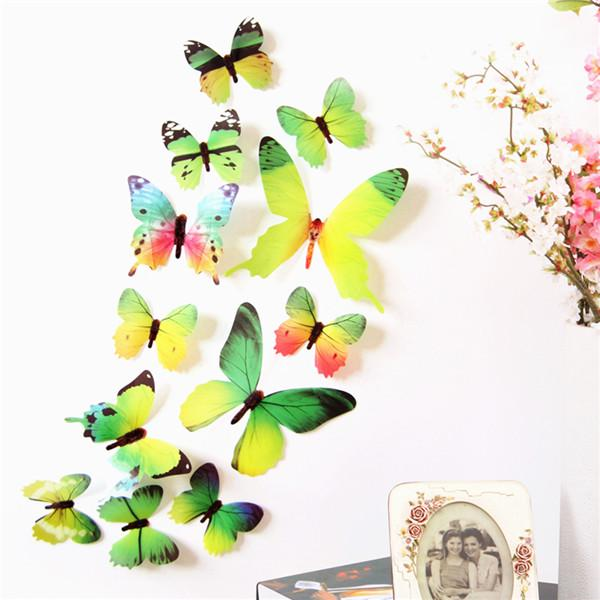 12Pcs 3D DIY Wall Decal Stickers Butterfly Home Room Art Decor Decorations