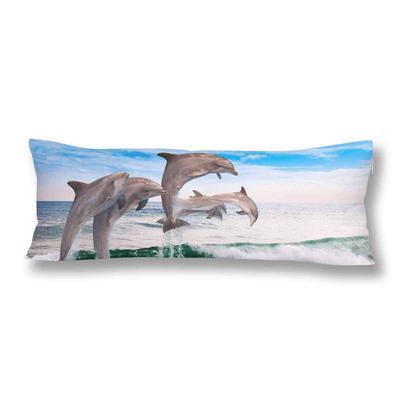 Dolphins Jumping Ocean Wavessea Wave Animal Body Pillow Cover Case 20x60inch 50x150cm Buy At A Low Prices On Joom E Commerce Platform