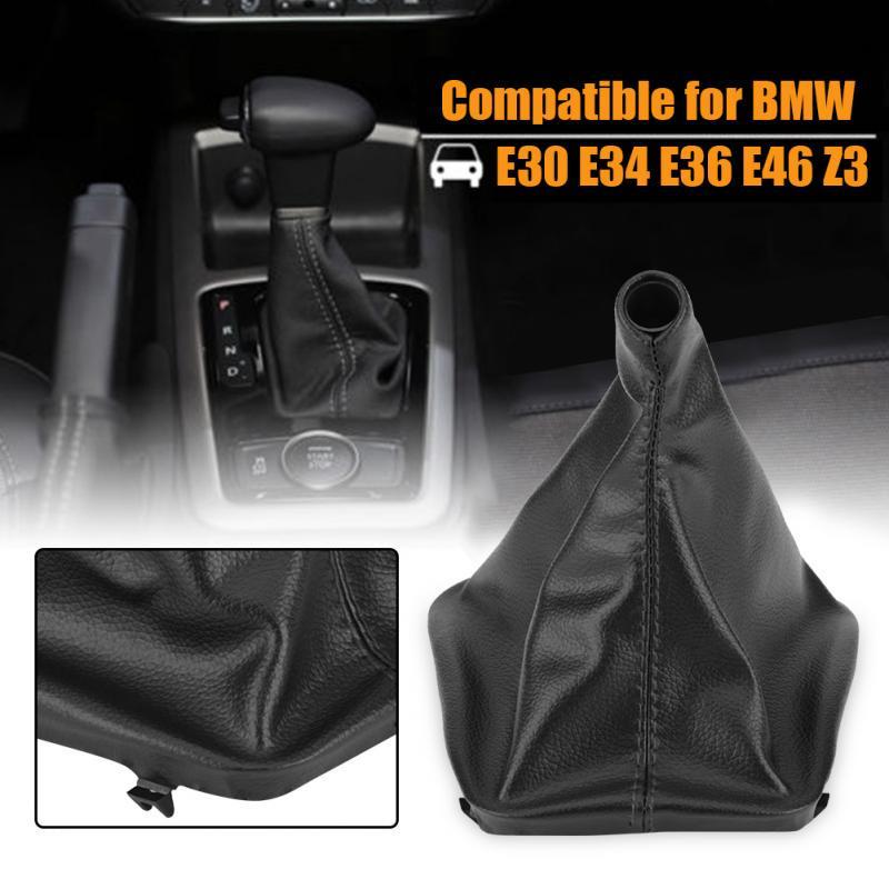 Shifter Shift Knob Gear Gaiter Boot Cover Fit BMW E30 E34 Z3 E46 E36 PU Leather