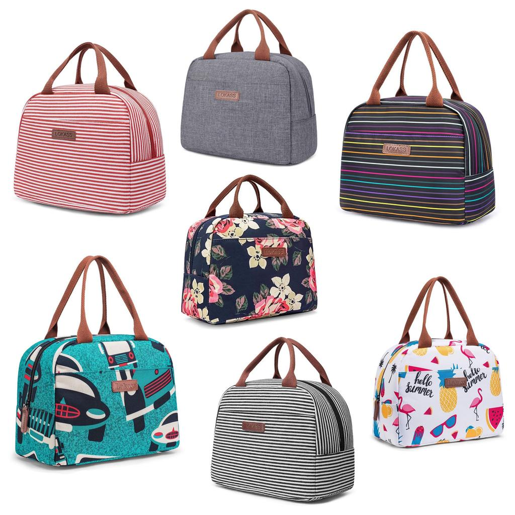 1PC Portable Canvas Lunch Bag For Students Office Lady Multifunction Storage Bag