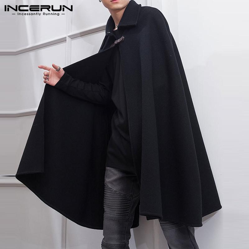 INCERUN Men/'s Longline Trench Coat Jacket Cardigan Capes Outwear Outfit Jackets