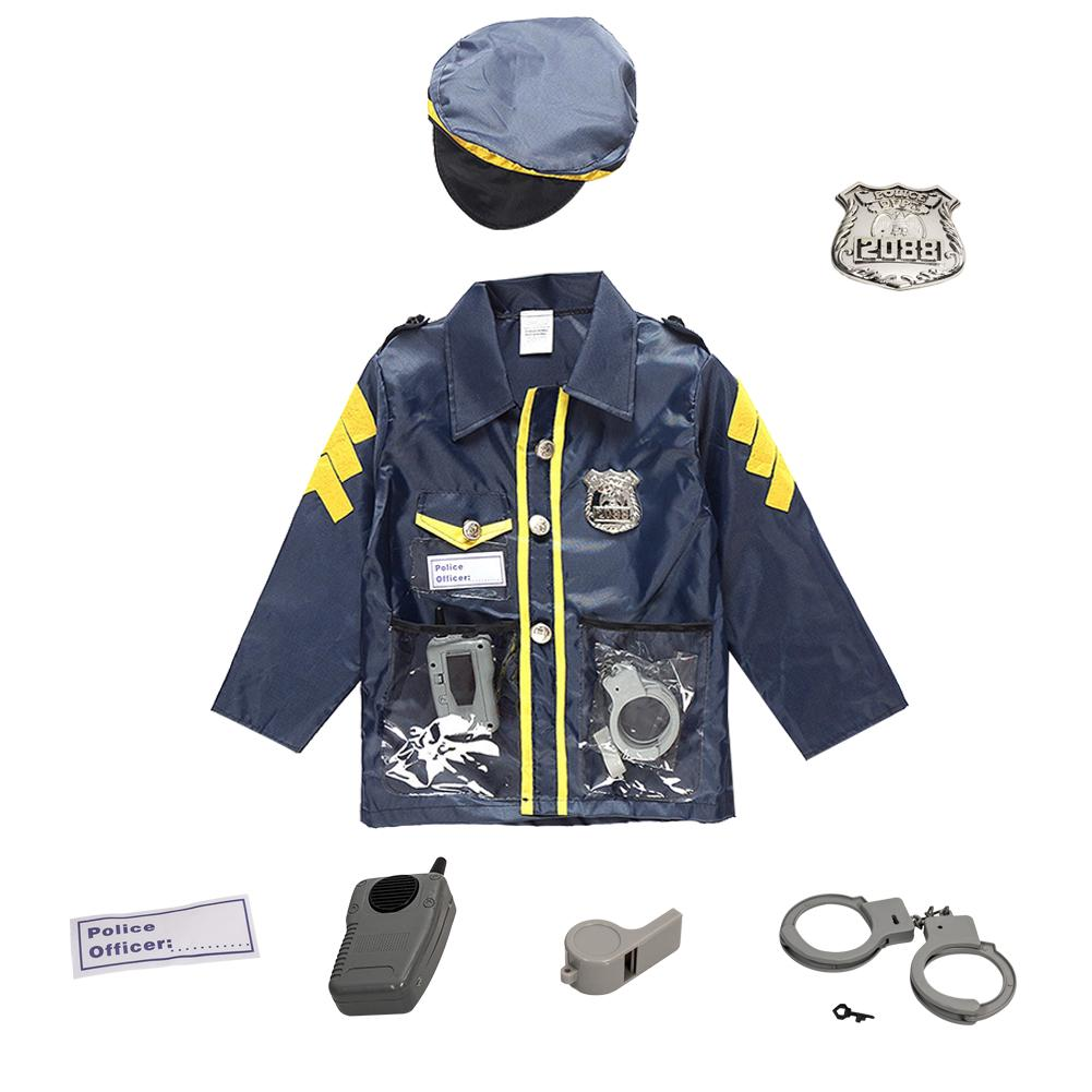 Chlidren S Policeman Cosplay Costume Policeman Costume With