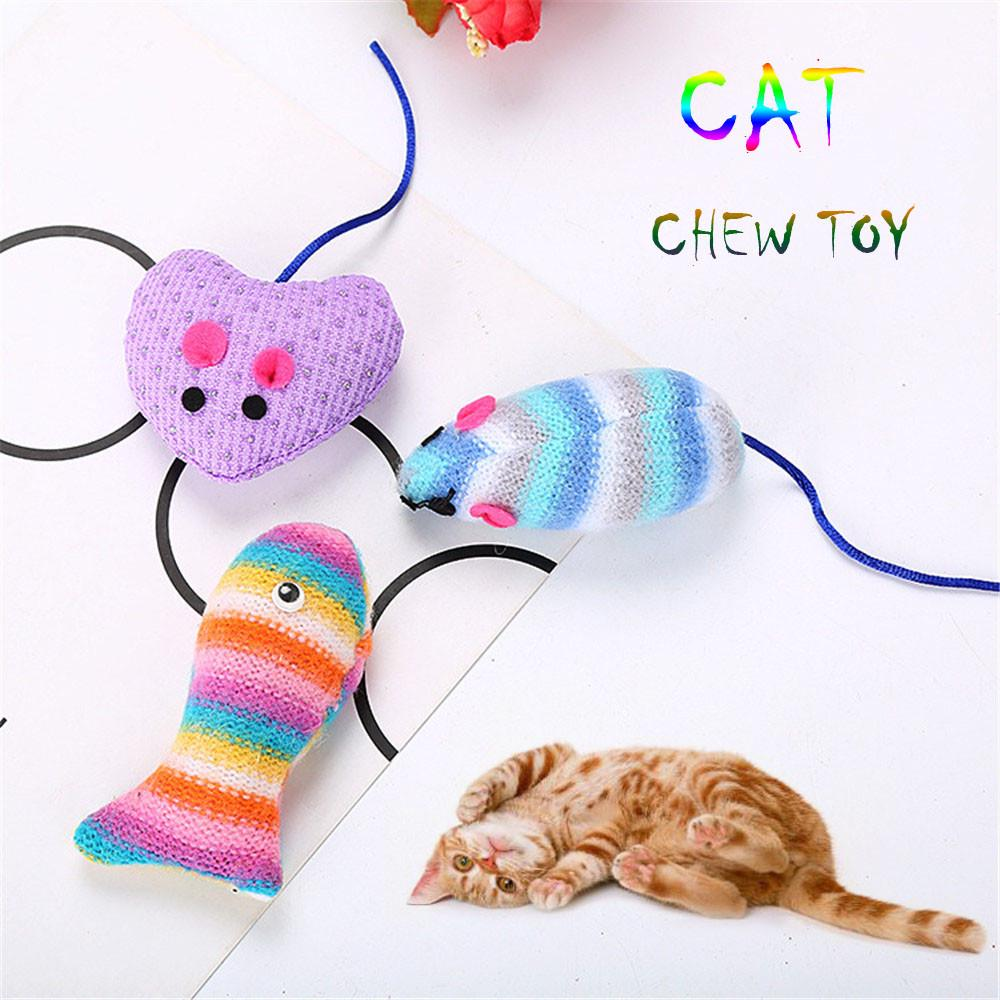 Cat Toy Lovely Cloth Woolen Yarn Bird Shape Pet Cat Kitten Teasing Play Interactive Toy