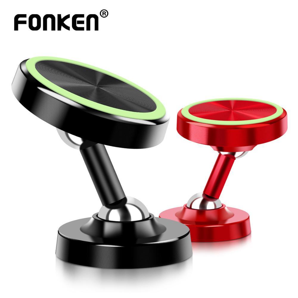 FONKEN световой автомобильный телефон держатель два пути Отрегулируйте магнитные держатели 360 градуса магнит телефон стойки
