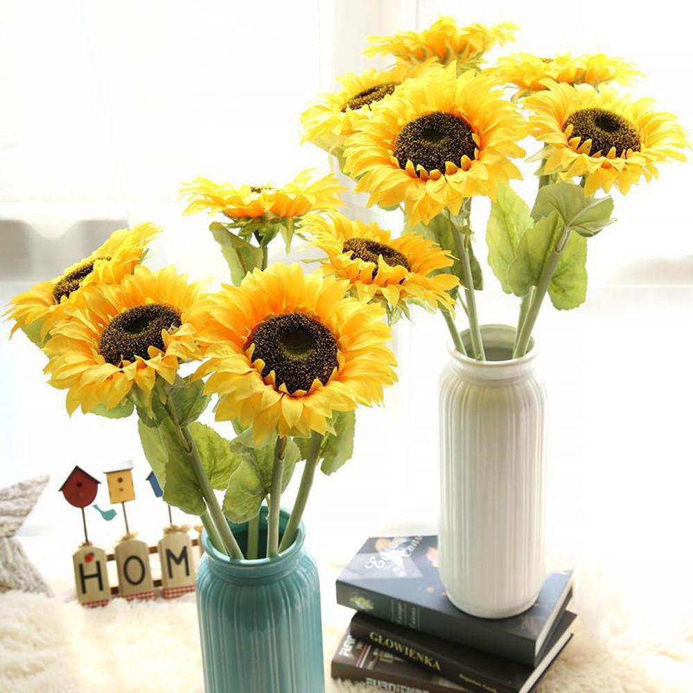 Floarea Soarelui Artificiale Fals Flori Florale Nunta Buchet