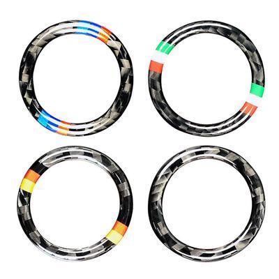For BMW E90 E92 E93 Carbon Fiber Engine Switch Start Stop Button Ring Cover Trim