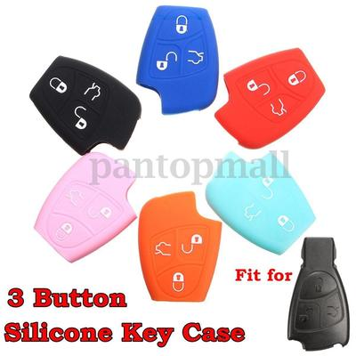 Silicone 3 Button Remote Key Fob Case Cover For Mercedes Benz CL500 CLK320 SLK55