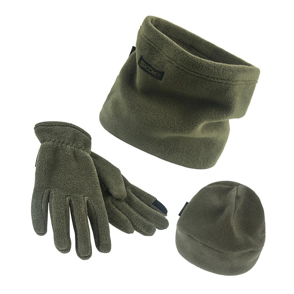 Gloves Snow Ski for  Men and Women unisex 3 pcs Winter Hat Scarf Fleece Warm