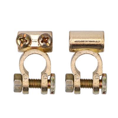 Negativo y positivo Qii lu 1 par 12V Terminales de bater/ía de liberaci/ón r/ápida Abrazaderas Conector para caravana de caravanas Materiales de cobre