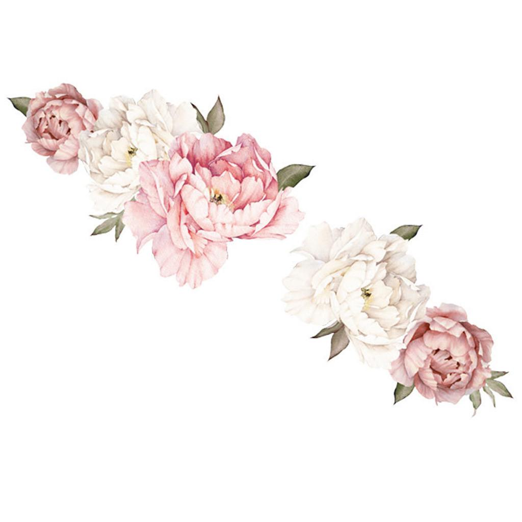 Selbstklebend Abnehmbare Blüten Peony Blumen Wand Aufkleber Kunst Haus Dekor