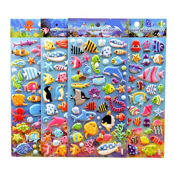 6Pcs 3D Car Wall Stickers Lot Scrapbooking Stikcers Kids Crafts Reward Gifts