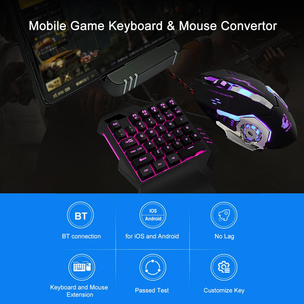 Mobile Game Keyboard & Mouse Convertor Gaming Adapter Dock Station for  Android iOS BT Connection