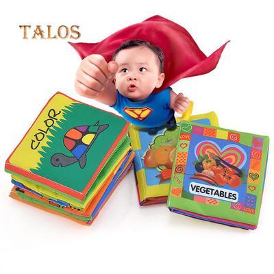 A Weiches Tuch Buch Kinderbett Tuch Buch meine erste ungiftige weiche Kleidung Buch fr/üh Lernspielzeug Bildungsbuch beste Geschenk f/ür Ihr Baby