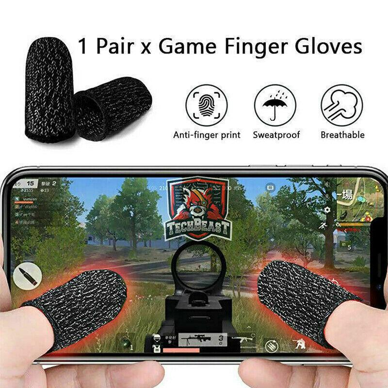 8QzJs1Tg Breathable Non-Slip Mobile Phone Game Touch Screen Finger Sleeve Controller Sweat Proof Easy to Carry Protective Finger Sleeve