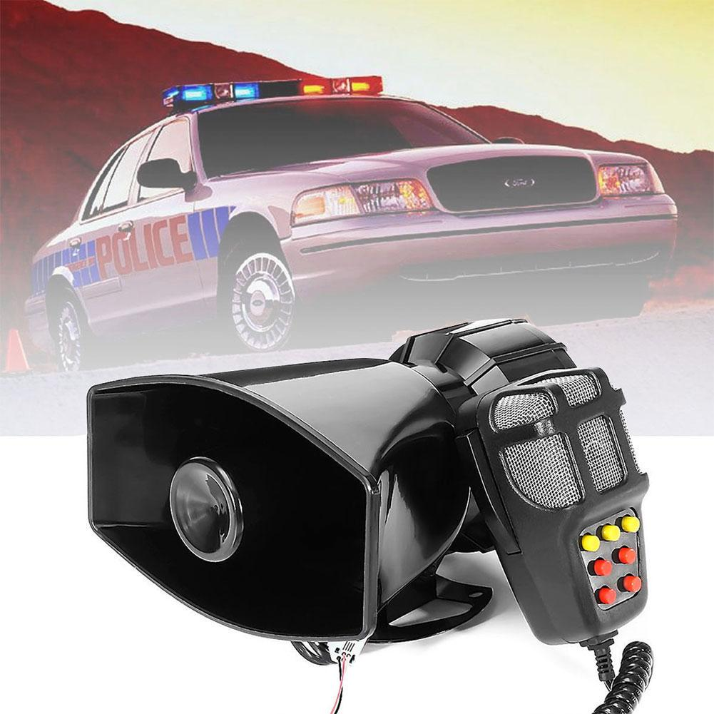 7 Sound Speaker 12v Loud Car Warning Alarm Police Fire Siren Air Tone Circuit 1 Of 8