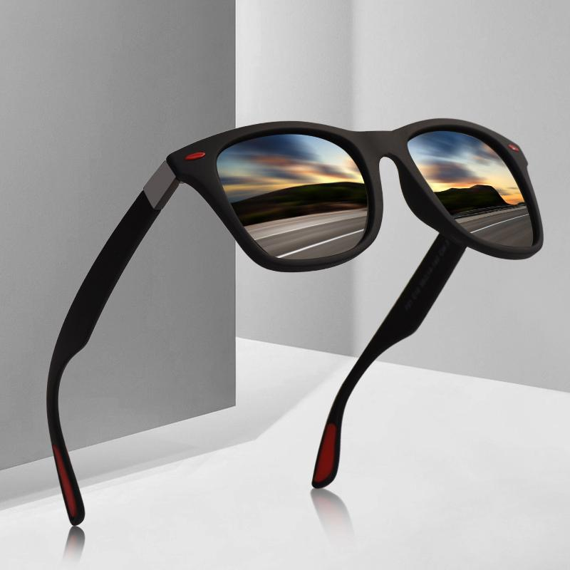 Классические квадратные солнцезащитные очки для мужчин, уровень защиты UV400