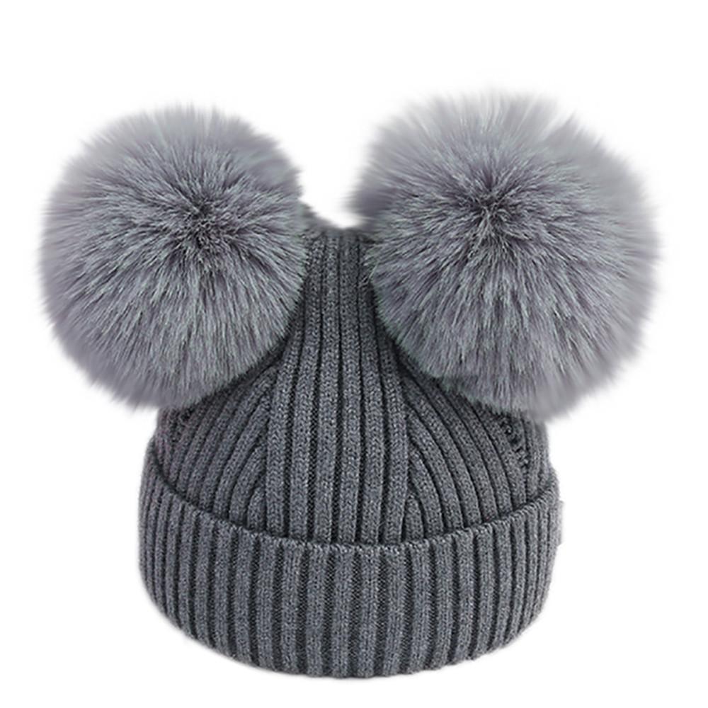 Toddler Infant Baby Kids Boys Girls Pure Venonat Knited Woolen Headgear Hat Caps