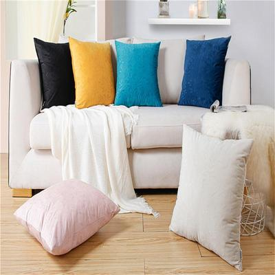 Topfinel Blue Chenille Cushion Covers 14x14 Inch Soft Square Decorative Throw Pillowcases for Livingroom Sofa Bedroom 35cmx35cm,Pack of 2