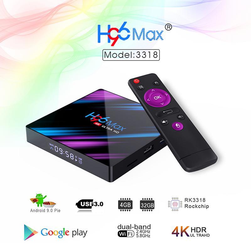 H96 Max 3318 TV Box 2G 16G Android 9,0 WiFi RK3318 четырехъядерный 4K комплект Топ-бокс – купить по низким ценам в интернет-магазине Joom
