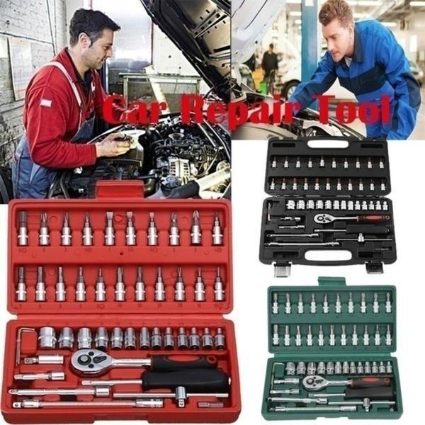 Garage Repair Tool Wrench Repair Tool 5/°Return Angle Used for Home Garage Repair DIY Professional Auto Repair Spanner Set Ratchet Spanner Tool Set 12 Piece
