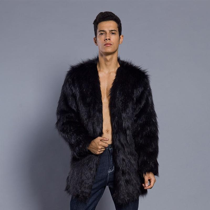 Men S Outwear Winter Warm Jackets, Fur Coats Mens Faux