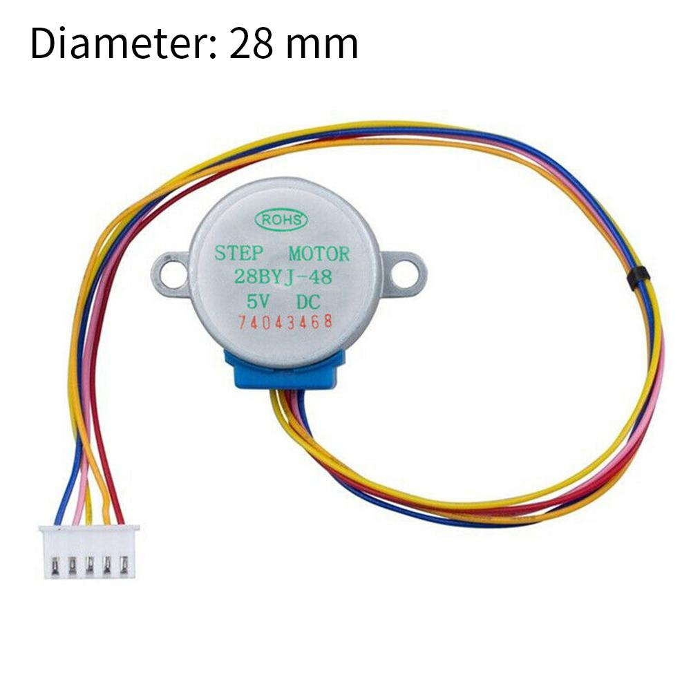 5 Pcs//Set 4-Phase 5-Wire DC Mini Reduction Stepper Motor 5V Low Noise Stepper Motor