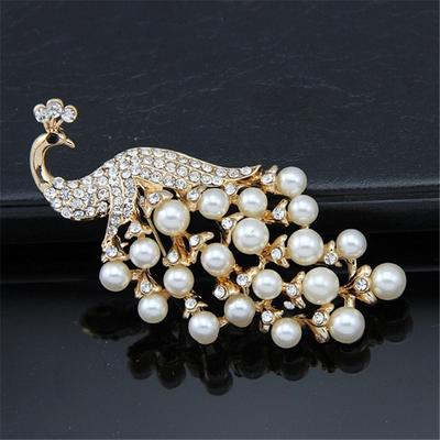 Phoenix Brooch Inlay with Micro Zircon Fashion Crystal Brooches for Women Wedding Jewelry