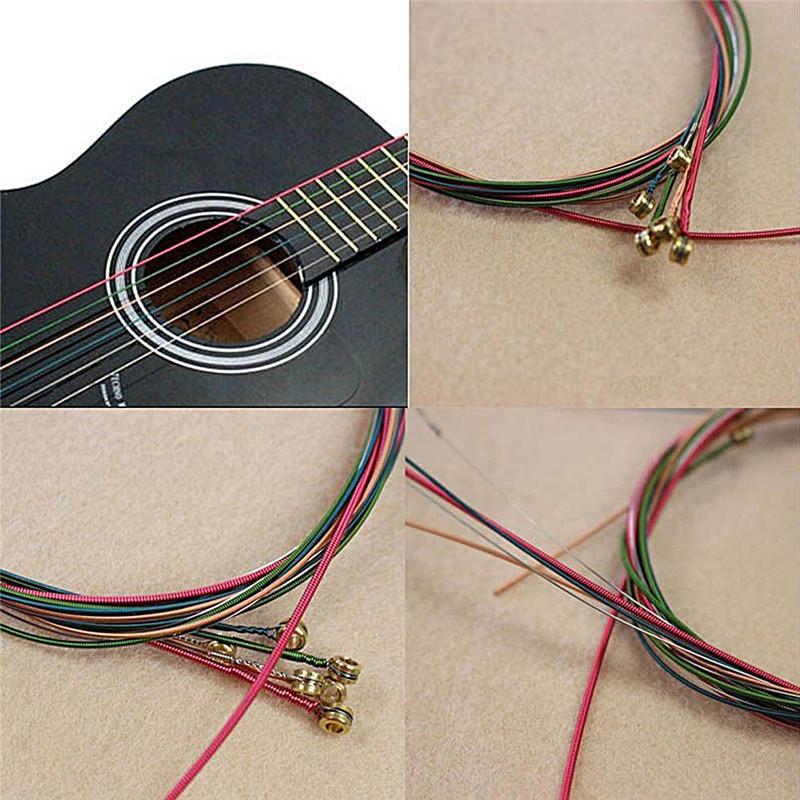 4pcs Edelstahl Gitarrensaiten Slides Set für akustische E Gitarren