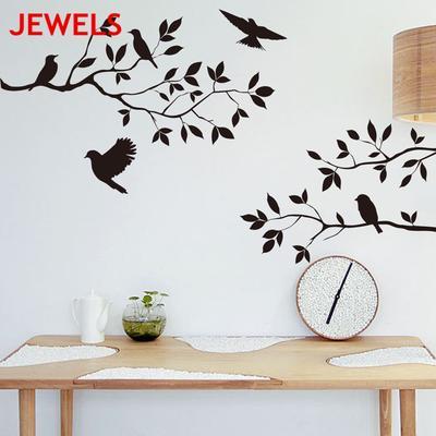 Removable Home 3D Mirror Wall Stickers Decal Art Vinyl Room Decor Birds Fun DIY