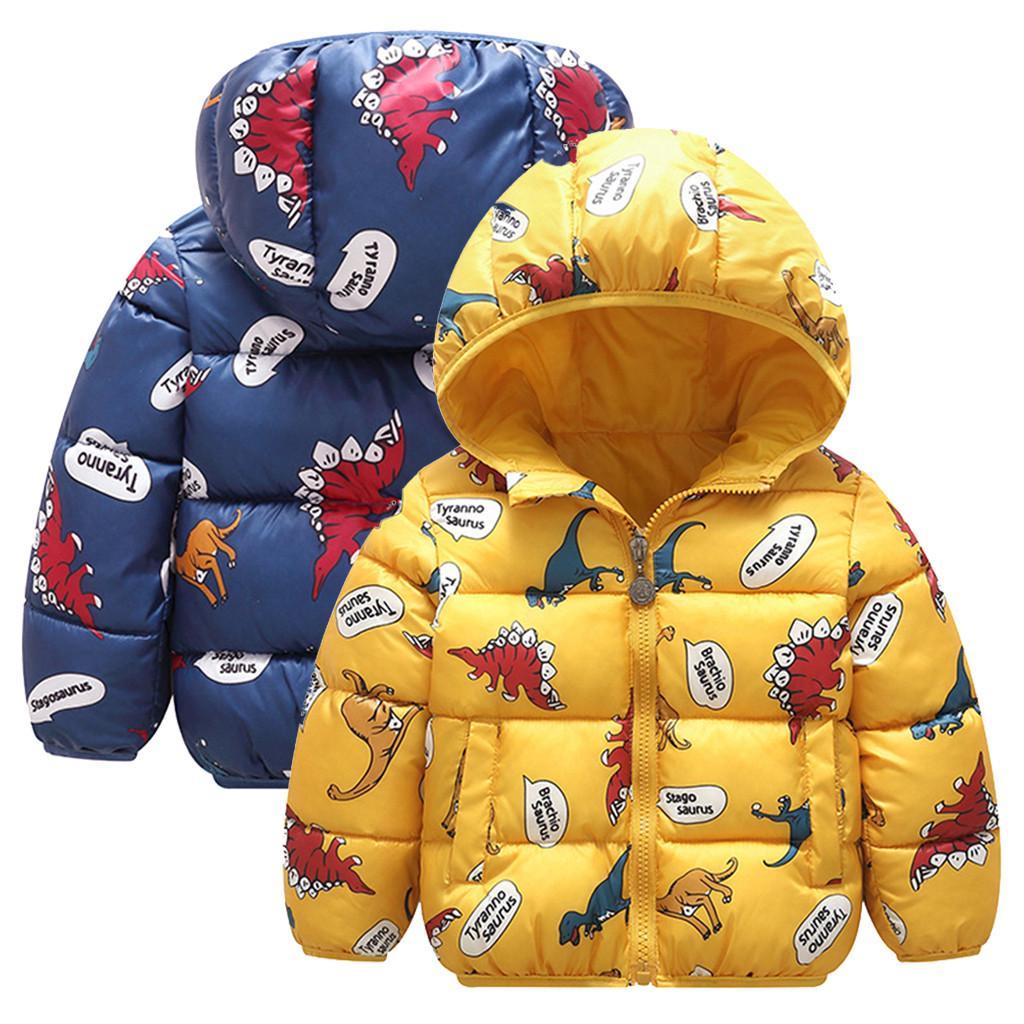 Details about  /Toddler Baby Boys/&Girls Winter Cartoon Windproof Coat Hooded Kids Outwear Jacket